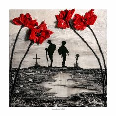 'Remember And Reflect' - POSH Original Art by Jacqueline Hurley Remembrance Poppy painting soldier Remembrance Flowers, Remembrance Day Poppy, Diy Origami, Remembrance Day Posters, Remembrance Day Drawings, Remembrance Day Images, Tattoo Studio, Ww1 Art, Original Paintings