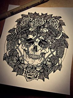 skull, drawing, and art image Graffiti Artwork, Street Art Graffiti, Type Illustration, Illustrations, Crane, Piercings, Totenkopf Tattoos, Sugar Skull Art, Skulls And Roses
