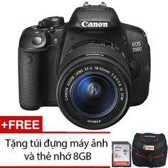 Canon 700D 18MP với Lens kit 18-55mm IS STM 18MP (Đen) + Tặng 1 túi đựng máy ảnh và 1 thẻ nhớ 8GB
