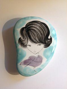 Vintage ceramic Box Italy De Milano 1960s girl's by PetiteKaty, €30.00