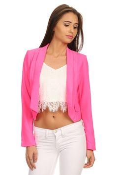 Tweela   JUST iN   Hot Pink Blazer   1605560414