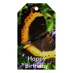 Milbert's Tortoiseshell butterfly gift tags