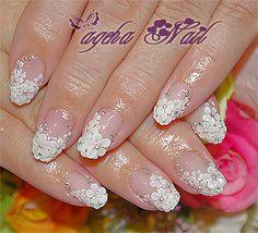 Wedding flower nails