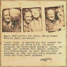 Nazım Hikmet'ten Vera'ya Aşk Mektubu..