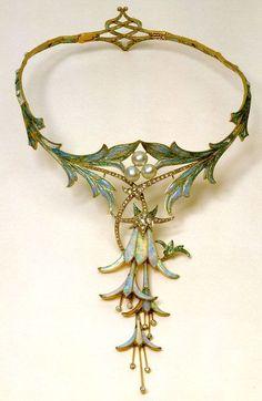 Art Nouveau fae necklace From Pinterest via - Visit chiwahwah.tripod.com