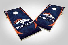 Denver Broncos 2x4 Cornhole Board Set - Wild (w/Bluetooth Speakers)