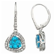 Blue Topaz Earrings with Sterling Silver - jcpenney