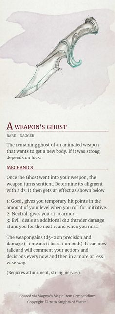 809 Best Magic items images in 2019 | Dnd 5e homebrew