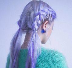 Необычный цвет волос, фиолетовые волосы