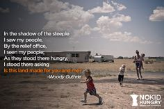 Take the pledge. Make a difference. www.nokidhungry.org