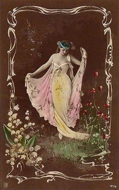 French postcard - 1908