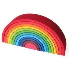 Grimms regnbue i stor Grimm, Beach Mat, Outdoor Blanket, Wood Arch, Nursery Rhymes, Wooden Toys, Gift Ideas, Resim