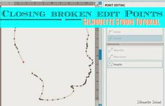 Connecting Edit Points/Closing a Shape in Silhouette Studio ~ Silhouette School