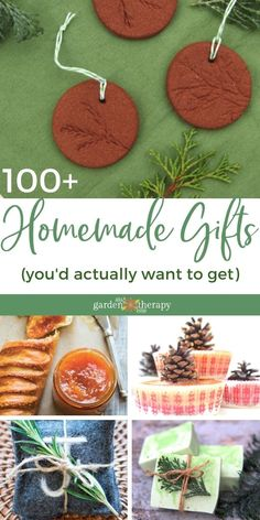 Making gifts for the holidays or an occasion can be a lot of fun, but is the end product something you really would want to get as a gift? Here is a list of over 100 homemade gift ideas for gifts you'd actually want to receive. #gardentherapy #handmadegifts #christmas #diy Garden Gifts, Homemade Gifts, Garden Projects, Christmas Diy, The 100, Valentines, Gift Ideas, Holidays, Birthday