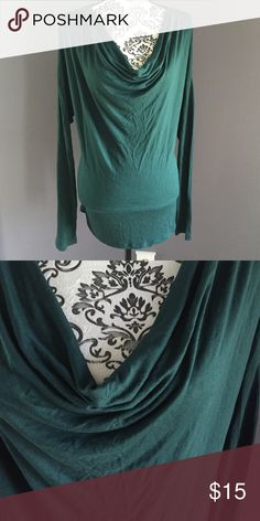 Brand new Old Navy Top Dolman style with draped neckline. Hunter green, brand new without tag. Old Navy Tops Tees - Long Sleeve