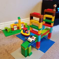 Today we built the Golden Gate Bridge and yes...that is Alcatraz in the background there. Duplo Girl insisted that we have a suicidal Eskimo too #lego #architecture #duplo #duplolego #legogram #sanfrancisco #alcatraz #goldengate #building #buildingblocks