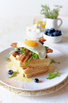 Herb and Goat Cheese Waffles