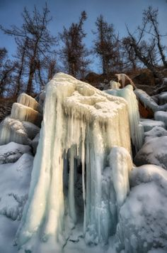 Amazing  ice of Lake Baikal, Siberia. Photo by Andrey Grachev
