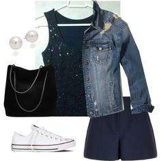 Sem título #244 by fabipcandido on Polyvore featuring moda, Hollister Co., Theory, Converse, Gucci and AK Anne Klein
