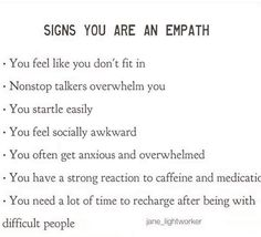 Empath Traits, Intuitive Empath, Empath Abilities, Mental And Emotional Health, Infj Personality, Thing 1, Self Help, Wise Words, Life Quotes