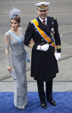 Crown Princess Letizia of Spain at the inauguration of King Willem-Alexander of Netherlands - by Varela
