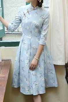 Dress inspired by cheongsam