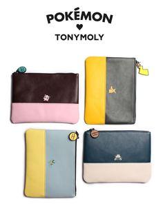 Tonymoly Pokemon Pouch (Pikachu, Kkobugi, Jammanbo, Purin) #Tonymoly #pokemon