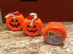 Turn your tide pod container into a Halloween bucket!