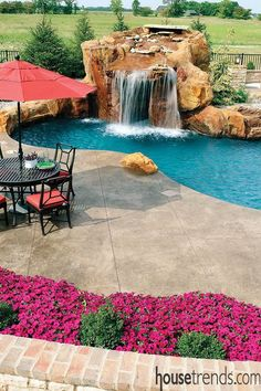Swimming Pool Strives For A Tropical Feel