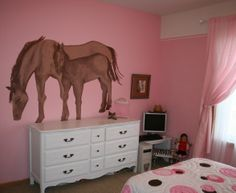 Room on pinterest bunk bed with desk horse themed bedrooms and bunk
