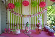 """Photo 4 of 22: Hot pink and Lime Lady bug / Birthday """"Oh So Sweet 1st Birthday Party""""   Catch My Party"""