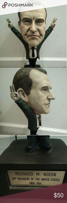 Richard Nixon statue Big head Richard Nixon statue Other