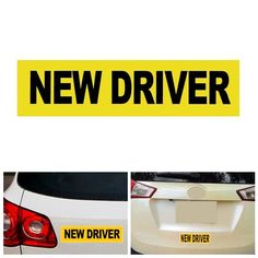 New Driver Car Sticker Magnet Reflective Decal Safety Caution Warming Sign
