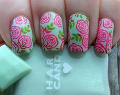 Vintage Roses Nail Art Manicure Reprise | Lindsey's Lacquer