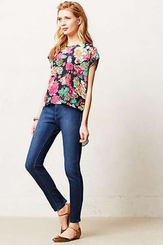 Florals and jeans. Always a great combination.