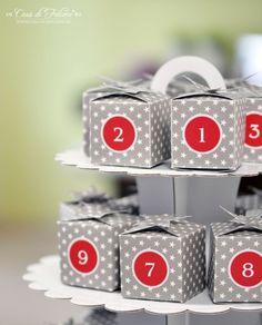Freebie: Schachteln für Adventskalender oder andere Kleinigkeiten :)