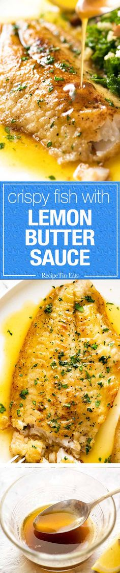 A beautiful Lemon Butter Sauce for fish that's a snap to make!
