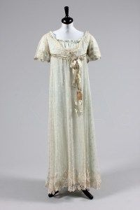 early 19th century Honiton lace dress