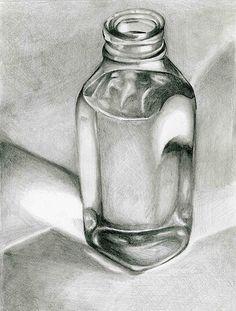 70 Bottle Pencil Drawing Ideas - New Sites Still Life Sketch, Still Life Drawing, Still Life Art, Drawing Skills, Drawing Techniques, Drawing Ideas, Pencil Art Drawings, Art Drawings Sketches, Graphite Drawings