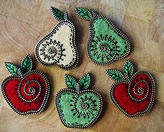 zipper crafts/FRUIT - I LOVE this, and I think I can manage it!