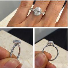 BOOM!  #Oval #cut #diamond #engagement #ring #diamondsinternational  #LoveDI