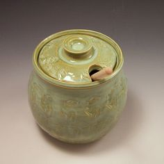 handmade pottery honey pot - Google Search