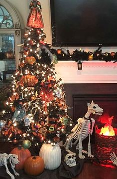 Serious #creepychristmas decorating goals!!  Photo Credit: Angie Grabko | Grandin Road Spooky Décor Challenge 2016