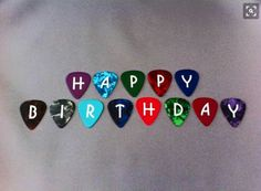 Happy birthday guitar picks