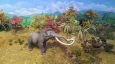 Giant buffalo Bison latifrons, a huge bull Imperial mammoth Mammuthus columbi and far right, the american mastodon Mammut americanum. Wildlife, Elephant, Horses, Deviantart, American, Kids, Animals, School Ideas, Design