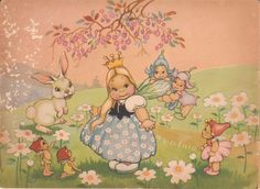 Faeries and Little Folk: Peg Maltby's Fairy Folk Vintage Fairies, Midsummer Nights Dream, Flower Fairies, Vintage Children's Books, Fairy Art, Magical Creatures, Cute Illustration, Vintage Pictures, Faeries