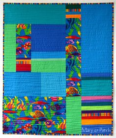 Maryandpatch, Baby quilt, Use one main print and coordinated colors.
