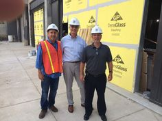 Howard with Frank Stapleton and Kerry smith of MacPhersons visiting BINDERS at Ponce City Market
