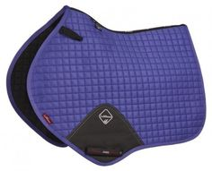 LeMieux Pro Sport Suede-Close Contact Square Event Jumping Saddle Cloth Pad - Blueberry