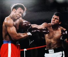 Muhammad Ali Authentic Signed 20X24 Photo Vs George Foreman PSA/DNA ITP #3A75039